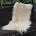 CX-D-24P luxury faux mongolian lamb fur blanket