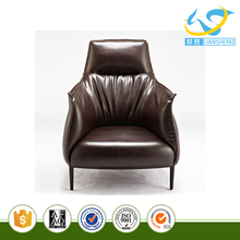 2017 Modern Style Black Mature Single Sofa new model sofa sets pictures with Leather Material