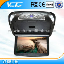 11.4 inch factory price flip fown roof dvd with 2 extra colors changeable casing