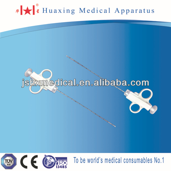 Semi-automatic medical sterile biopsy needle