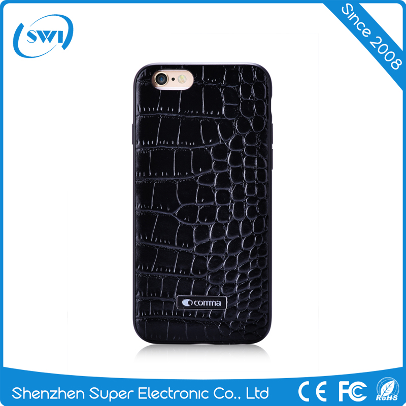 Alibaba Express High Fashion CROCO TPU Leather Cell Phone Cover Case for iPhone 6S/6 Plus 5.5""