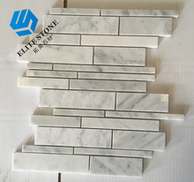 Home Interior Decorator Metal Tiles 3D Raised Long Random Strip Aluminum Mosaic