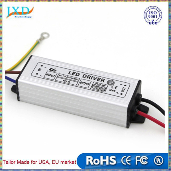 Aluminum 50W LED Driver Adapter Transformer AC 160-265V TO DC 20-39V DC Switch Power Supply