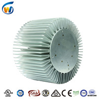 Europe style 2016 new technology aluminum extrusion cylindrical heat sink for led high bay light 200 watt