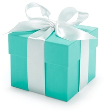 Tiffany Blue Colors Christmas Items Storage Boxes with Ribbon Gift Box Ornament
