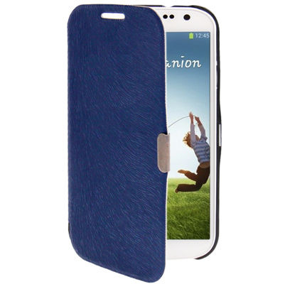Ultra-thin Svepa Discoloring Flip Leather Case for Samsung Galaxy S IV / i9500 (Blue)