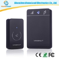 Battery Powered Motion Sensor Wireless Mp3 Doorbell, Wireless Door Chime / Barking Dog Alarm Rohs Doorbell with 36 Ringtones
