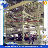 6m wide in 200 microns heat insulation plastic film roll making machine for greenhouse film