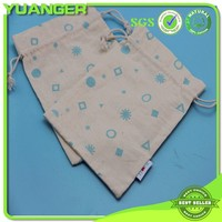 New Style Promotional Handled Bulk Organic Cotton Drawstring Bags