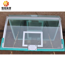 Tempered glass fiber glass basketball board with rims hoops