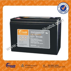 China best quality valve vrla lead acid rechargeable solar battery 6V 200ah for sale