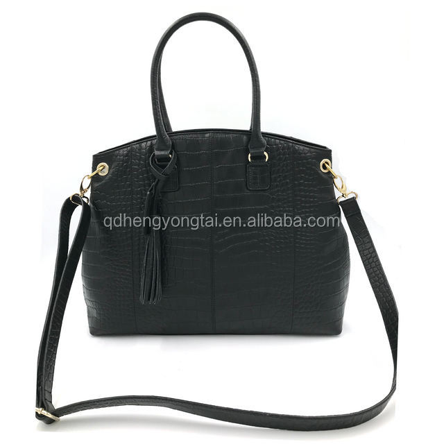 High quality genuine leather shoulder tote handbag for women wholesale leather bags