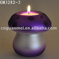 Easter decoration and gift glass mushroom candle holder