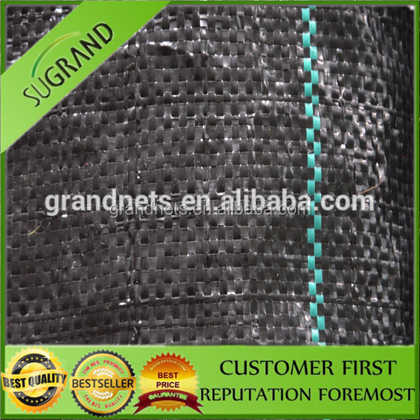 We are in the production of black pp ground mat with green line