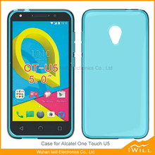 Soft Rubber Silicone Clear TPU Case For Alcatel One Touch U5 Gel Cover