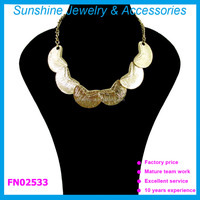 Sunshine Fashion gold cheap statement Necklaces for women 2014