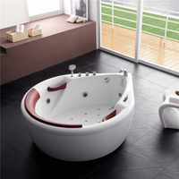 New design acrylic sector shape spa bathtub in low price corner bathtub massage