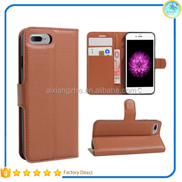 Lychee Skin Wallet Leather Credit Card Holder Flip Case Cover For Asus Zenfone 3 Max ZC520 ,Mobile Phone Case for Sony Xperia E5