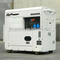 hot sale!! ITCPower DG7500SE 5kW small silent diesel genset