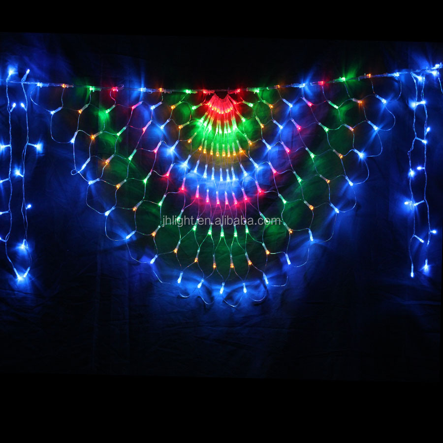 New Year! 2Mx0.8M LED Curtain net Light Cristmas decoration/Christmas curtain net Lights Decoration Holiday Party