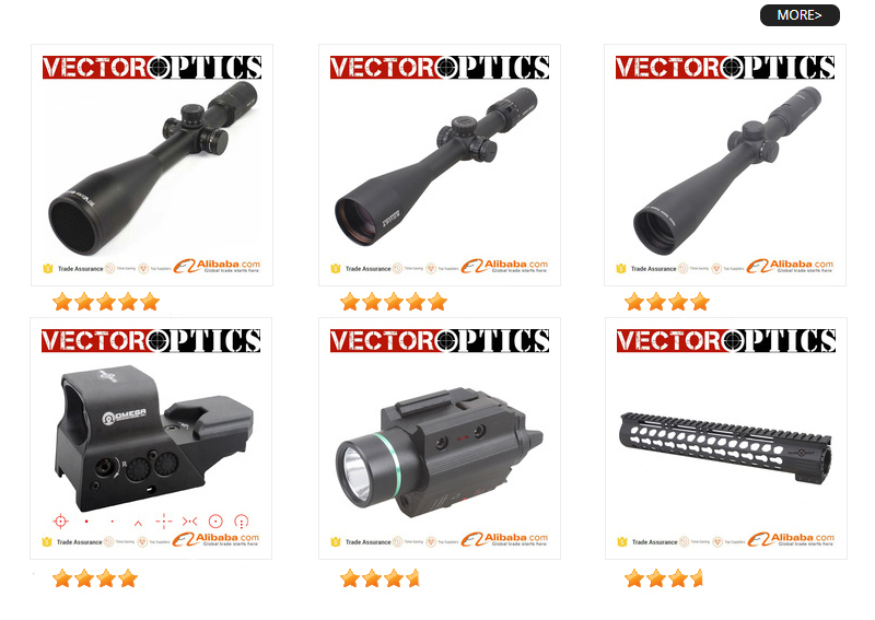 Vector Optics Forester 1-5x24IR Rifle Scope Super Bright Clear Edgeless Return to Zero