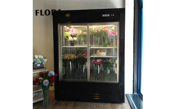Made in Guangzhou commercial vertical flower refrigerated cases flower showcases for sales vertical flowers coolers