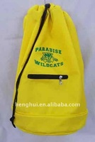 drawstring bag with pockets