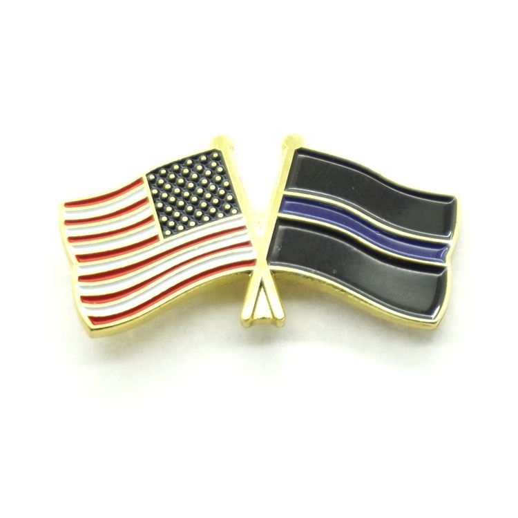 Quality Assurance custom flag no minimum enamel lapel pin with discount price
