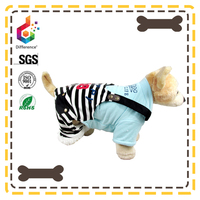 Autumn and winter striped overalls dog clothes