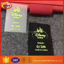 Wholesale Customized Woven Clothing Heat Transfer Care Labels For Clothing