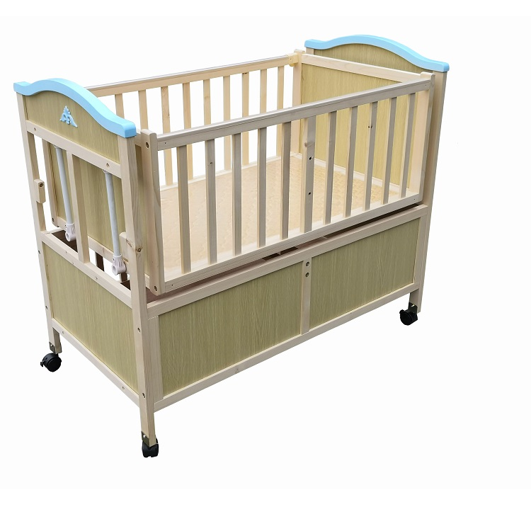 Hot Sale Eco-friendly Home Use Solid Wood Newborn Crib For Baby