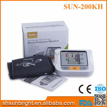 SUN-200KH top quality blue tooth battery hospital use Blood Pressure Monitor