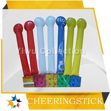 bang cheering sticker,led cheering inflatable sticks,led plastic maracas
