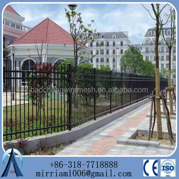 alibab china supply used pool safety palisade/wrought iron fencing for sale