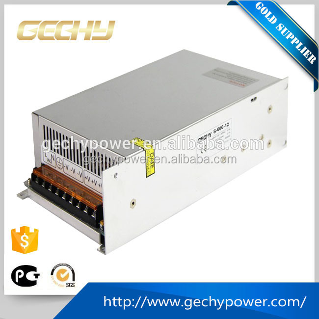 600w high power ac 220v to DC 12V 50a enclosed swithing power supply
