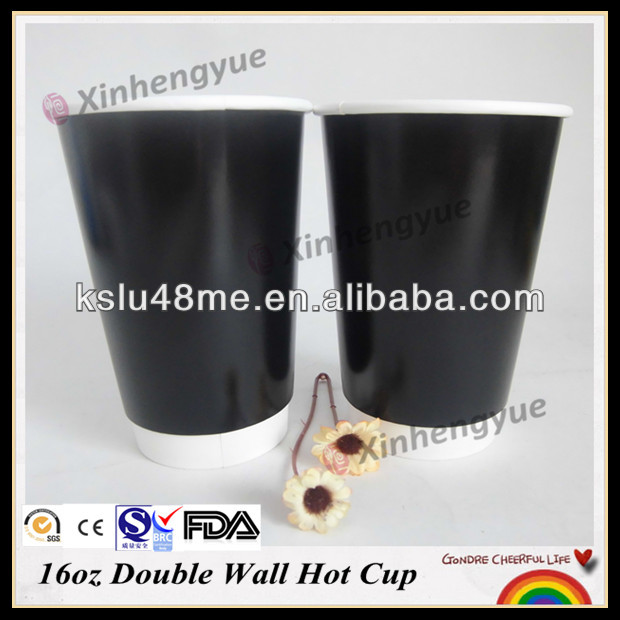 Double Wall Black Greek Coffee Cup