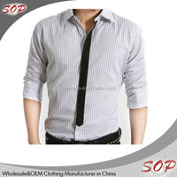 Men branded formal shirts with shirt fabric chinasupplier