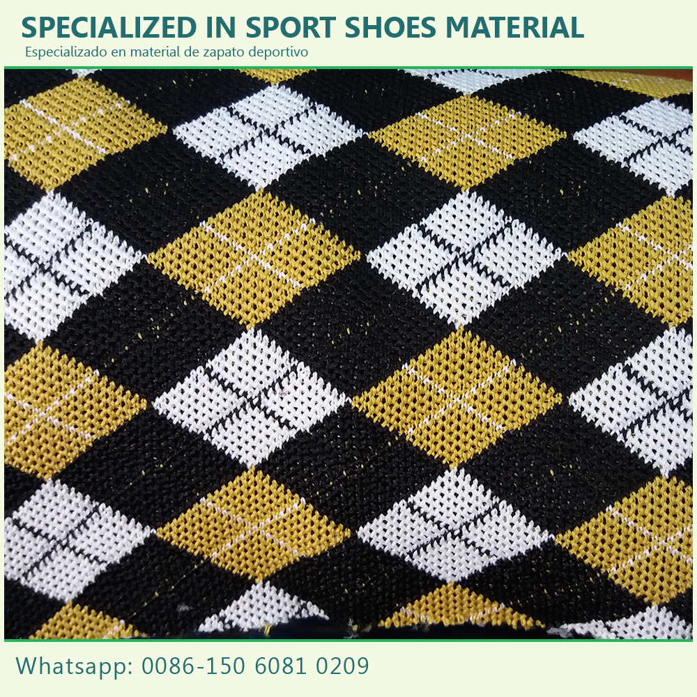 China supplier breathable fly knit fabric material shoes uppers