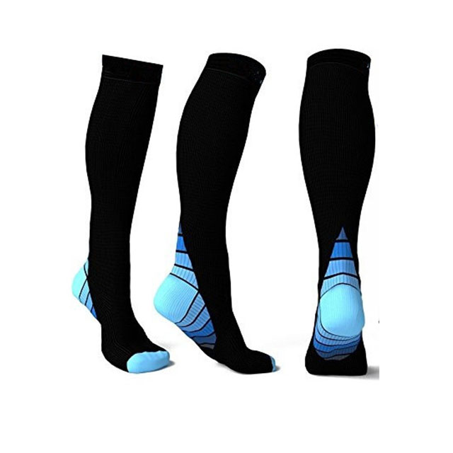 Top High quality 20-30mmHg Graduated Sport Compression Socks For Running