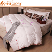 Saint Glory China Supplier King Size Luxury Hotel Duvet Comforter White 100% Cotton Fabric Goose down Hotel Down Feather Blanket