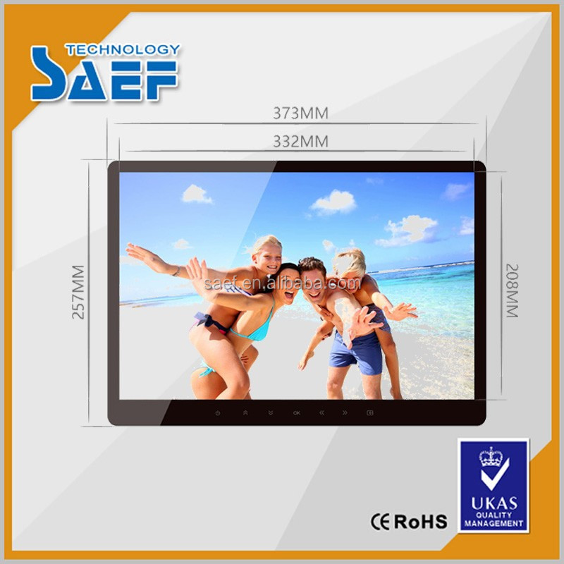 15.6 Inch 1280*800 Android Touch Panel Advertising Display support wifi
