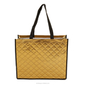 High quality embossed pattern clothes shopping metallic laminated non woven bag