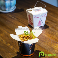 Take away noodle box food container round square base