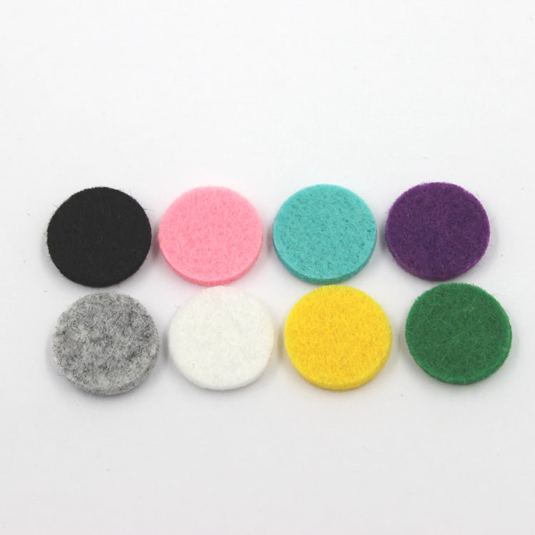 2017 Wholesale Colorful Aromatherapy Locket Felt Pendant Aroma Pads