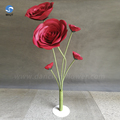 Best selling cheap cost price decoration paper flower red flower wall backdrop