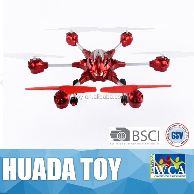 Long Range Rc Helicopter 2.4G With 6-axis LED Light Mini RC Quadcopter Intruder UFO