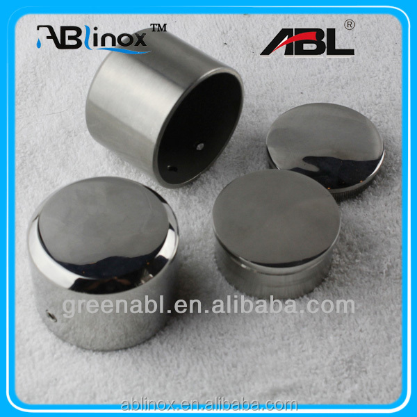 Stainless steel pipe end cap for