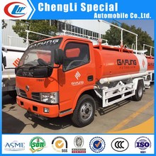 RHD 5000liters Oil Gasoline diesel tanker 4t 5ton mini fuel delivery truck for Thailand
