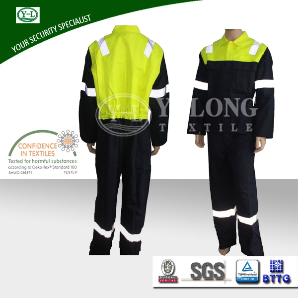 hot sale Oeko-Tex 100 winter flame retardant and anti-static function protective boiler suit