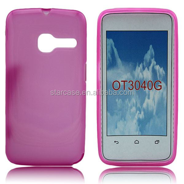 Promotion !!! Tpu Soft Jerry Case Cover for Alcatel one touch Tribe 3040 (Other Models and colors can be customed)